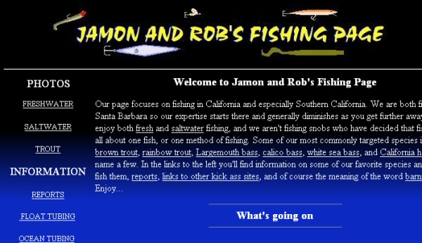 Jamon and Rob's Fishing Page